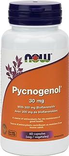NOW Pycnogenol 30mg w/Bioflavos 60 Veg Capsules, 60 g