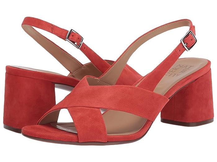 Vintage Heels, Retro Heels, Pumps, Shoes Naturalizer Azalea Mango Spice Suede Womens Sandals $59.40 AT vintagedancer.com