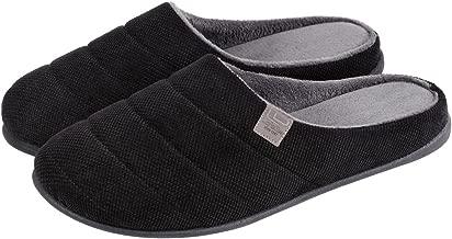 LongBay Men's Memory Foam Slippers Anti-Slip Indoor Closed Toe Light Weight Shoes