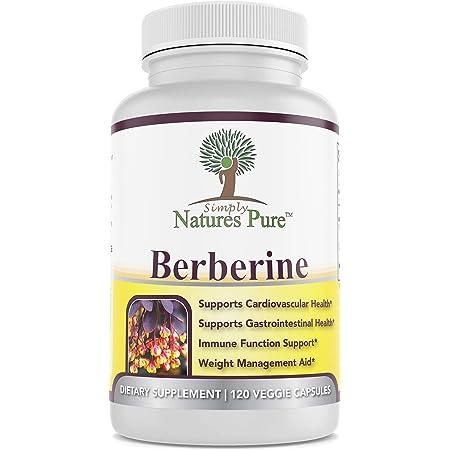 Premium Berberine HCl 500mg - Cardiovascular gastrointestinal Immune Weight Loss Support- Chromium Cinnamon (Pack of 1)