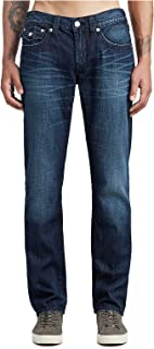 True Religion Men's Skinny Jeans w/Flap Pockets in Planet of The Blue
