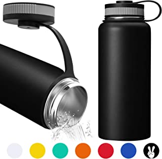 32 Oz Water Bottle - Double Wall Vacuum Stainless Steel Water Bottle Keeps Hot or Cold, Leak Proof Sports Water Bottle with Wide Mouth for Camping Travel, Thermos for Home, Office Outdoor