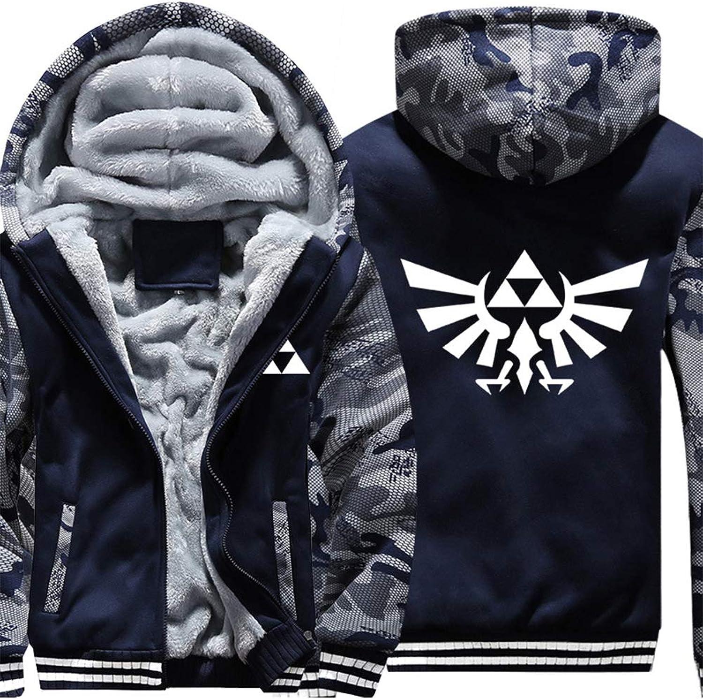Adult Zelda 店内全品対象 Thick Fleece Zip up SALENEW大人気! Jacket Hoodie Winter Triforce Hy
