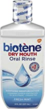 Biotene Fresh Mint Moisturizing Oral Rinse Mouthwash, Alcohol-Free, for Dry Mouth, 8 ounce