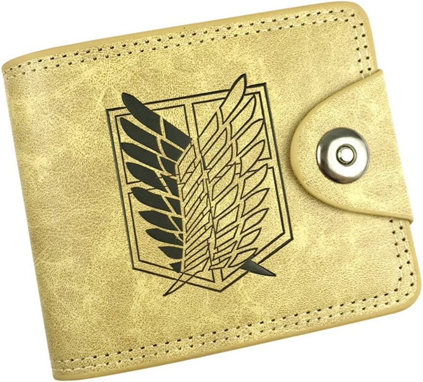 Gumstyle Attack on Titan Anime Cosplay 10 Slots Bifold Wallet Card Holder Purse