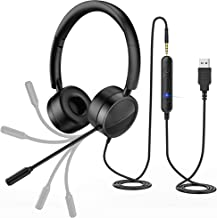 New bee PC Headset mit Mikrofon USB/3,5mm Business Headset Noise Cancelling & Klare..