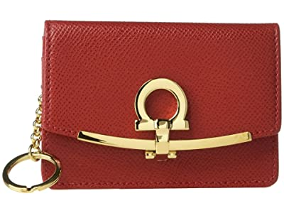Salvatore Ferragamo Icona Saffiano Card and Key Holder (Lipstick) Wallet Handbags