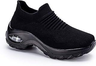 Women's Lightweight Walking Shoes Slip On Sock Sneakers...