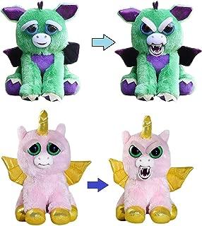 Chachi Toys Feisty Pets Dragon and Alicorn [Winged Unicorn] Bundle