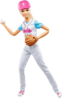 Barbie Made to Move Baseball Player, Blonde with Mit