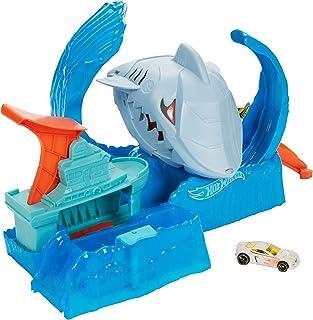 Hot Wheels - City Pista de Coches de Juguete Salto de Tiburón Color Shifter (Mattel GJL12)