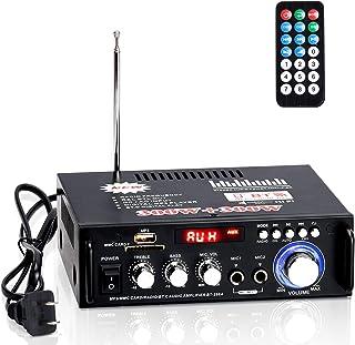 Facmogu 298A Wireless Bluetooth 5.0 Stereo Audio Amplifier, 300W+300W Dual Channel Power Sound Receiver w/USB, SD Card, FM...