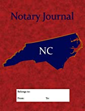 Notary Journal: A Professional NC Notary Journal With Large Writing Areas