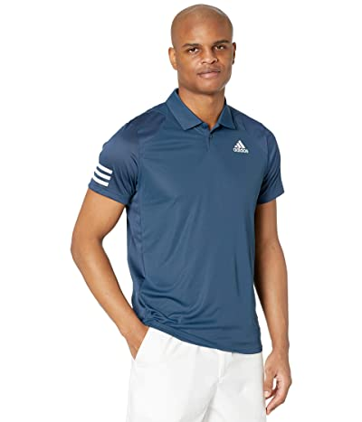 adidas Club 3-Stripes Polo (Crew Navy/White) Men