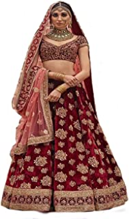 2c514d0c5d FREE Delivery. Globalia Creation embroidered semi stitched lehenga for  women | womens Today preminum lehengas collection 2018