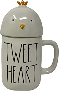 RAE DUNN TWEET HEART EASTER COFFEE MUG - Artisan Collection By Magenta - Super Cute and adorable Chick Head Lid/Topper - A...