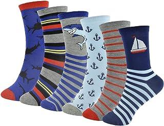 6 pares de calcetines estampados para niños