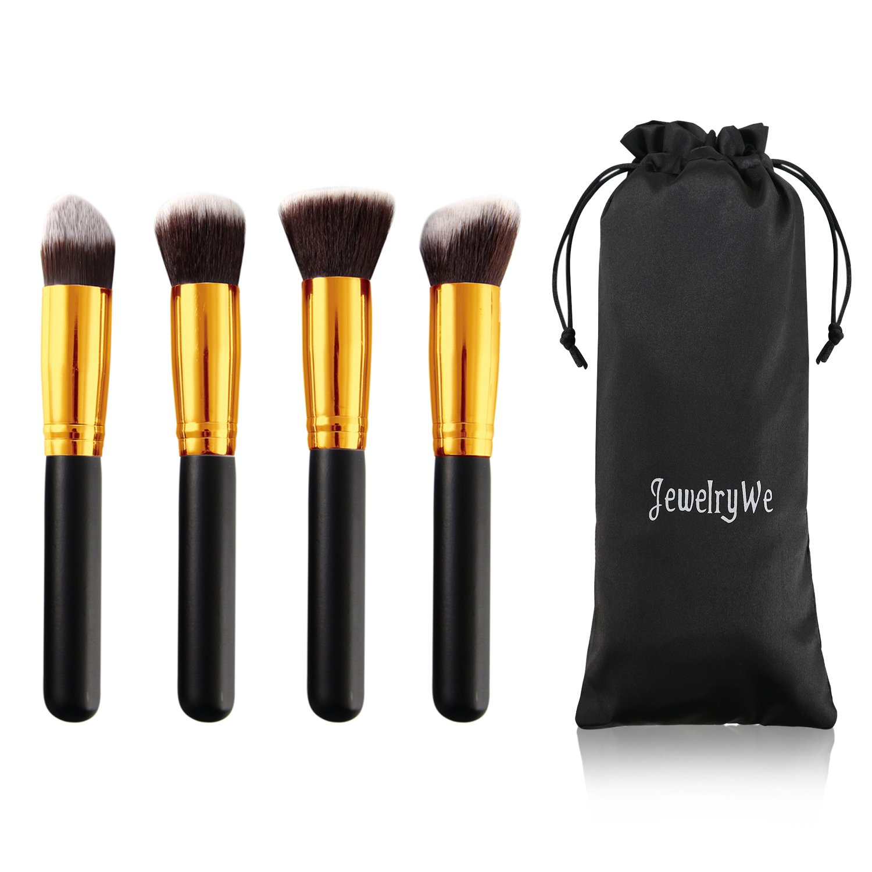 JewelryWe 4pcs Portable Max 55% OFF Flat Top Kabuki C Single Brush Synthetic New sales