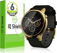 IQShield Screen Protector Compatible with Motorola Moto 360 46mm (2nd Gen 2015)(6-Pack) LiquidSkin Anti-Bubble Clear Film