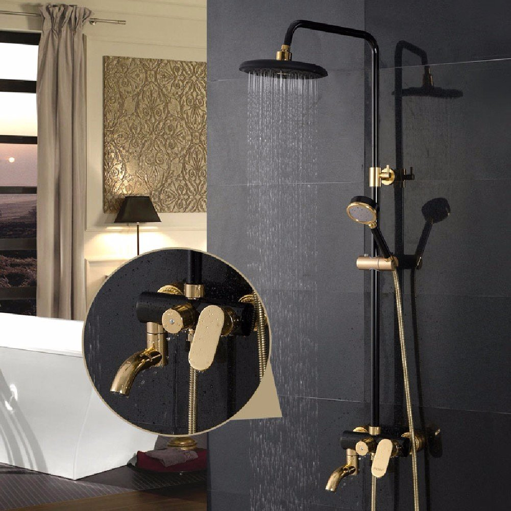 Wawzj Bathroom Shower Faucet Set European Style Black Circle Shower Bath Set Buy Online In Bangladesh Missing Category Value Products In Bangladesh See Prices Reviews And Free Delivery Over 5 800 Desertcart