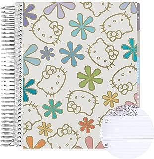 "Weekly Planner 7"" x 9"" 12 Month Spiral Bound Horizontal Weekly Life Planner (Jan - Dec 2022) - Hello Kitty Metallic Asteri... photo"