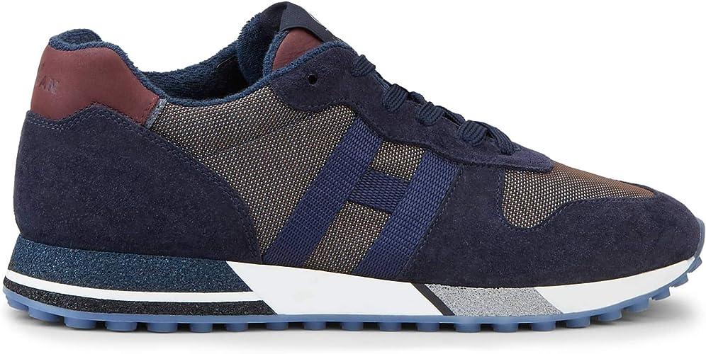 Hogan Sneakers H383 Blu e bordò in Suede e Tessuto - HXM4820AN51 ...