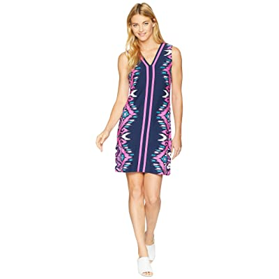 Tommy Bahama Cafe Azul Ikat Shift Dress (Ocean Deep) Women