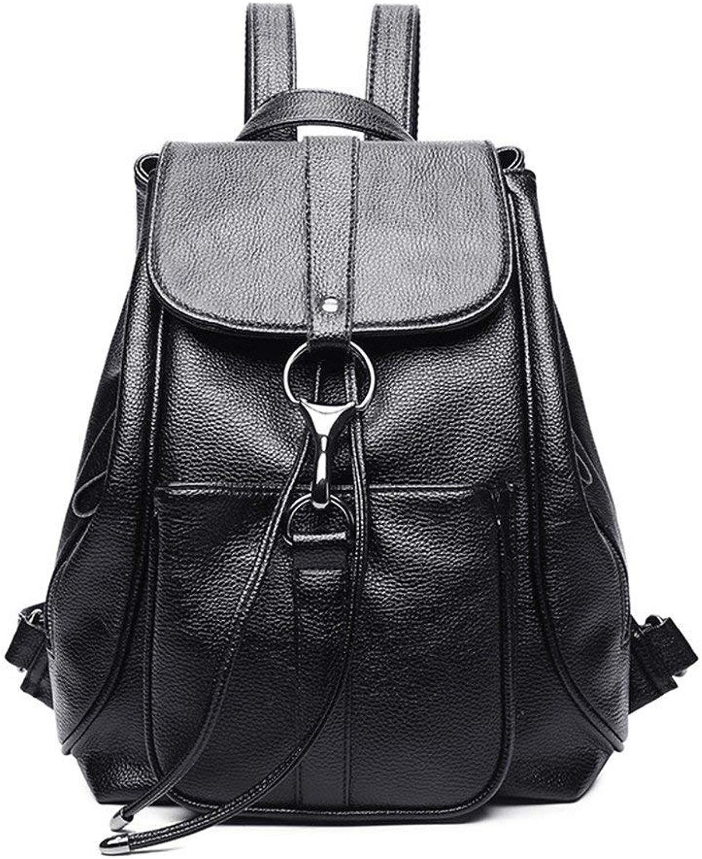 Eastery Handtasche Meine Damen Rucksack Neue Heie Tasche Leder Casual Bag Einfacher Stil Leder Rucksack Schultasche Tragen wasserdichte Tasche, (Farbe   Colour, Größe   One Größe)