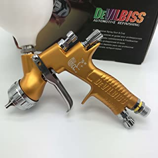 devilbes Professional Sparyer GTI PRO LITE Gold 1.3mm Nozzle w/t Cup TE20 Cap Car Paint Tool Pistol Spray Gun