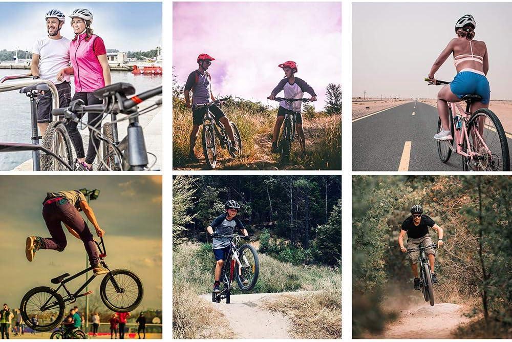 la Bici del Camino del Casco Tiempo Triatl/ón Prueba neum/ática Casco Bicicleta de Seguridad del casquete del Casco con la Lente,Azul YWZQ Casco de Ciclista Gafas magn/éticos
