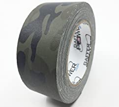 Camouflage Tape, Premium Grade Gaffer Tape by Gaffer Power - Muted Army Green Camo Tape - Made in The USA, 2 Inch X 25 Yards, Heavy Duty Gaffer's Tape, Non-Reflective, Water Resistant.