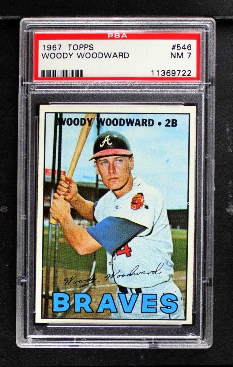 1967 Topps # 546 Woody Woodward Atlanta Animer and price revision Braves Baseball High quality Card P