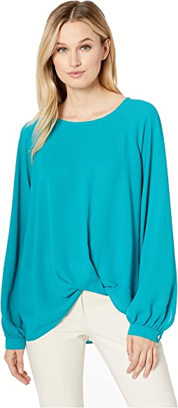 Long Sleeve Twist Hem Top