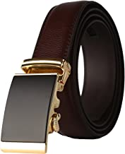 Lavemi Men's Real Leather Ratchet Dress Belt with Automatic Buckle,Elegant Gift Box - coolthings.us