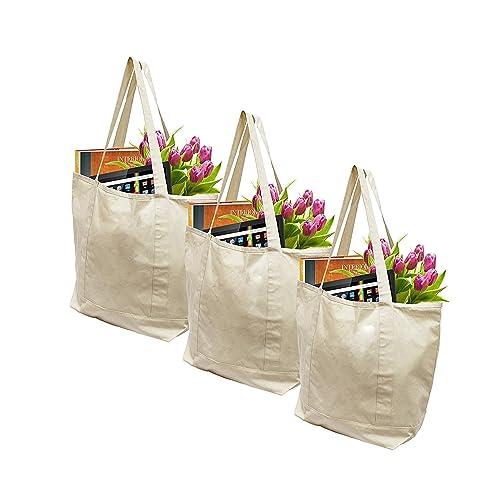 Extra Large Canvas Shopping Bags: Amazon.com