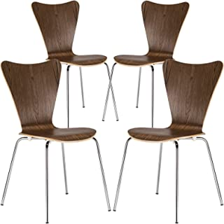 Poly and Bark Elgin Side Chair in Walnut (Set of 4)