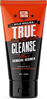 True Cleanse Men's Face Wash and Scrub with Activated Charcoal by Wild Willies
