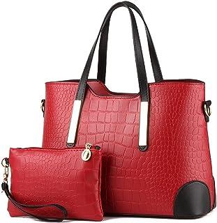 Pahajim PU leather women top handle satchel handbags tote purse Crocodile handbag