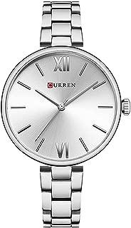 Women Watches Narrow Stainless Steel Band Quartz Watch Girls Fashion Ultra-Thin Wristwatches