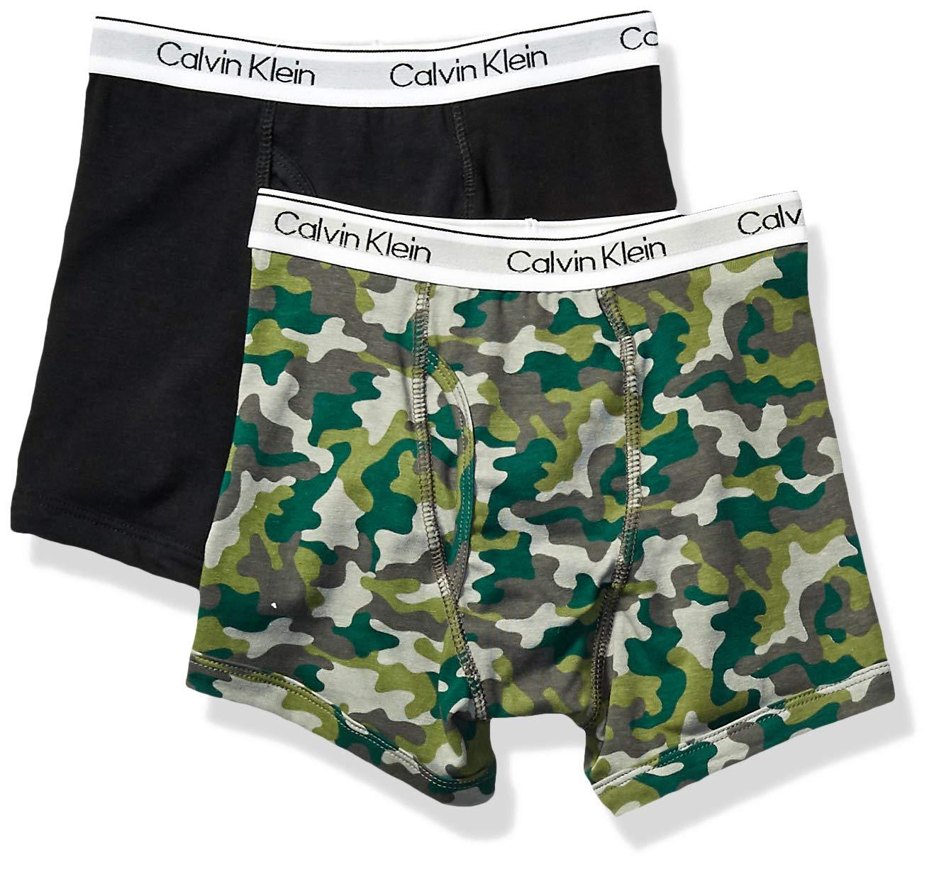 Calvin Klein 男童现代棉质组合平角内裤,多件装