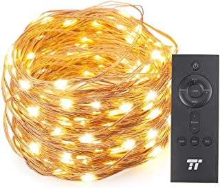 TaoTronics TT-SL006 66ft 200 LED String Lights with RF Remote Control, Super Soft Waterproof Copper Wire for Indoor and Outdoor (Warm White)