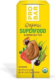 PROBAR - Nut Butters, Superfood Almond Butter, Non-GMO, Gluten-Free, USDA Certified Organic, Healthy, Plant-Based Whole Food Ingredients, Natural Energy (10 Count) Packaging May Vary