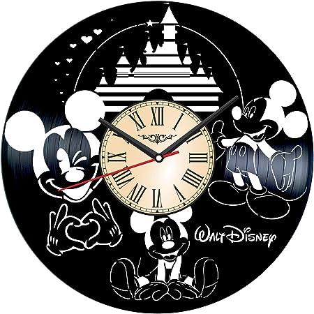 Minni Mouse Cartoon Vinyl Record Wall Clock Decor Handmade 1498