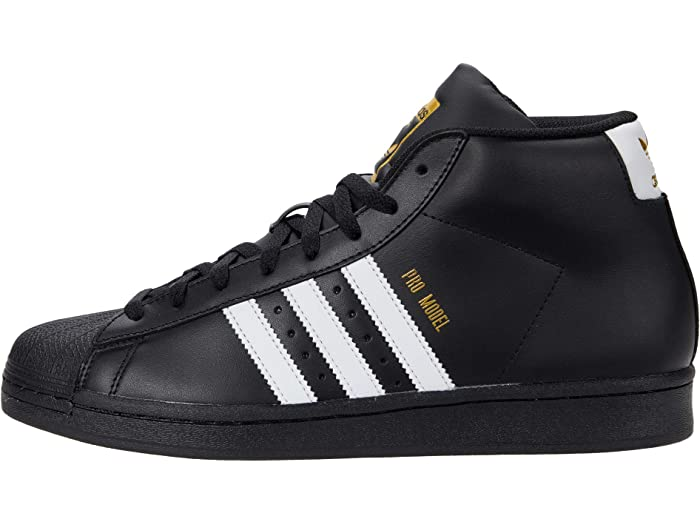 black and white adidas pro model