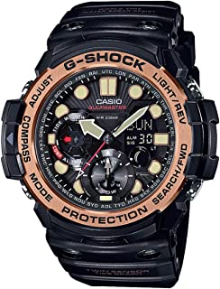 Casio G Shock Men's 51mm Gulfmaster GN1000RG 1A Resin Watch Black/Rose Gold