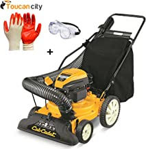 Toucan City Nitrile Dip Gloves(5-Pack) with Safety Goggles and Cub Cadet 1.5 in. 159cc Gas Chipper Shredder Vacuum CSV 050