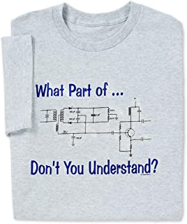ComputerGear Funny Engineering T Shirt Electrical What Part of Circuit Geek Tee