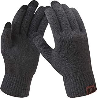Women's Winter Touchscreen Stretch Thermal Magic Gloves Warm Wool Knitted Thick Fleece Lined Texting Gloves for Women