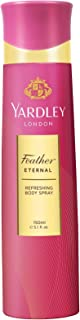 Yardley Feather Eternal Body Spray For - perfumes for women, 150 ml