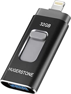 HUGERSTONE USBメモリ 32GB iPhone/Android/PC対応 フラッシュドライブ ブラック